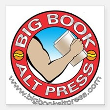 "Big Book Alt Press Logo Square Car Magnet 3"" x 3"""