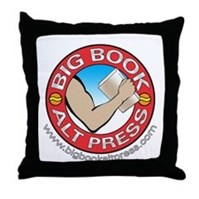 Big Book Alt Press Logo Throw Pillow