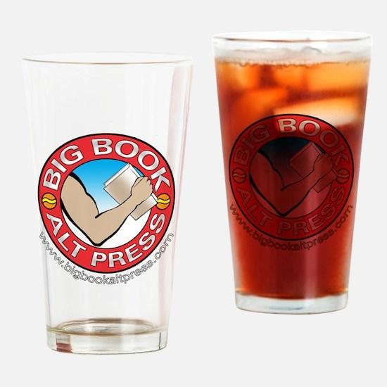 Big Book Alt Press Logo Drinking Glass