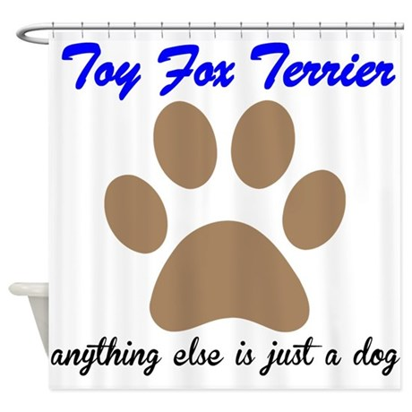 Just A Dog Toy Fox Terrier Shower Curtain