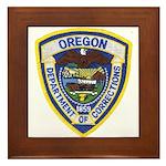 Oregon Corrections Framed Tile