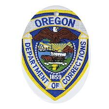 Oregon Corrections Oval Ornament