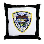 Oregon Corrections Throw Pillow
