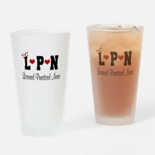 LPN Nurse Drinking Glass