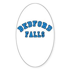 Bedford Falls Blue Oval Decal
