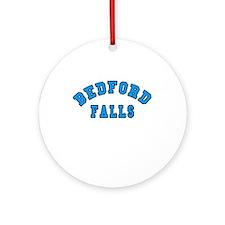 Bedford Falls Blue Ornament (Round)