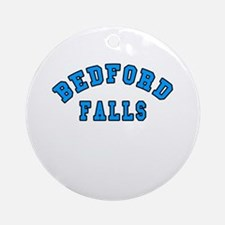 Bedford Falls Blue Ornament (Round)