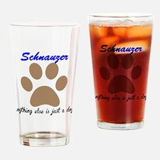 Just A Dog Schnauzer Drinking Glass