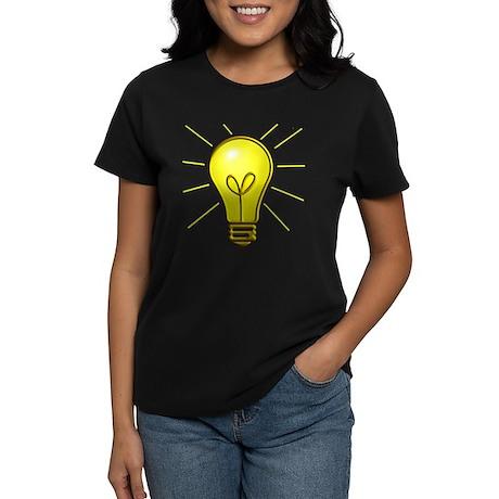 Light Bulb Women's Dark T-Shirt