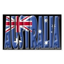 Word Art Flag of Australia Rectangle Decal