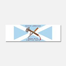 Native American/Scots Car Magnet 10 x 3
