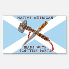 Native American/Scots Decal