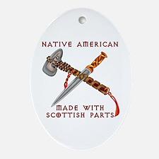 Native American/Scots Ornament (Oval)