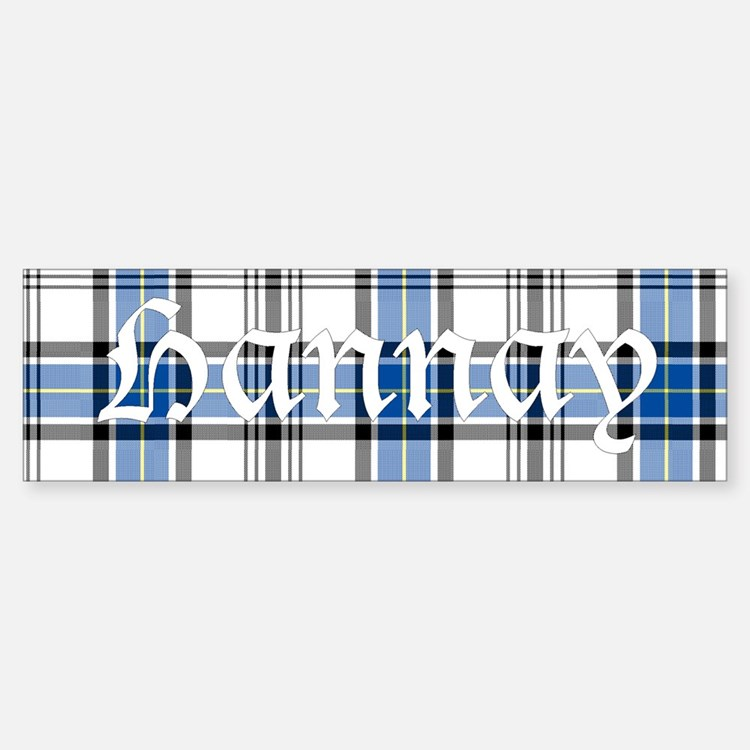 Tartan - Hannay Bumper Bumper Sticker