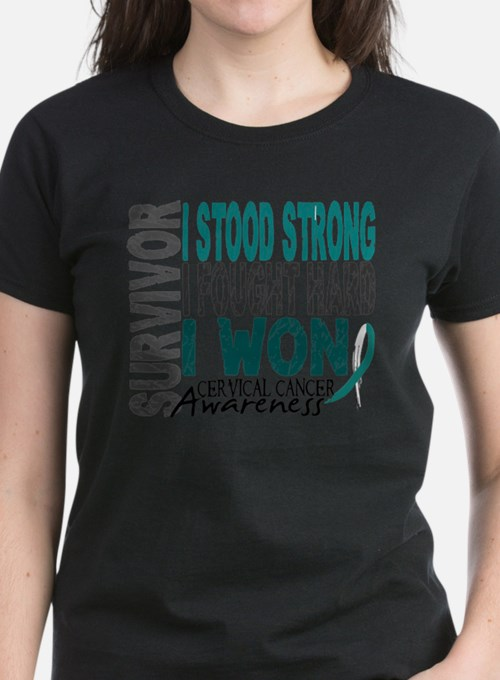 Survivor 4 Cervical Cancer Shirts and Gifts T-Shir