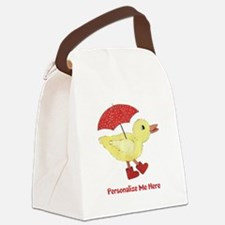 Personalized Duck in Boots Canvas Lunch Bag