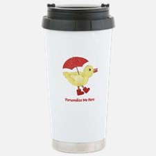 Personalized Duck in Boots Stainless Steel Travel