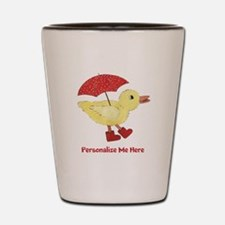 Personalized Duck in Boots Shot Glass