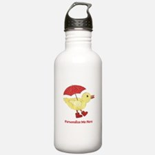 Personalized Duck in Boots Water Bottle