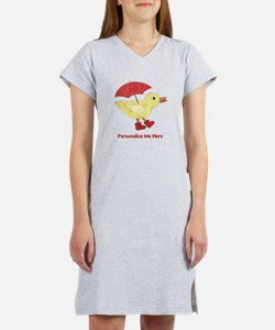 Personalized Duck in Boots Women's Nightshirt