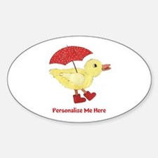 Personalized Duck in Boots Decal