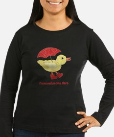 Personalized Duck in Boots T-Shirt