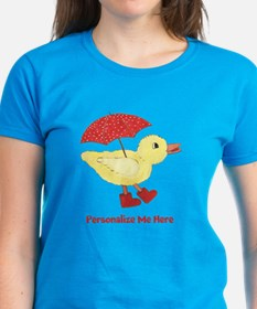 Personalized Duck in Boots Tee