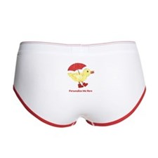 Personalized Duck in Boots Women's Boy Brief