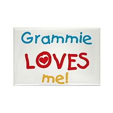 Grammie Loves Me Rectangle Magnet