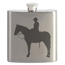 Canadian Mountie Silhouette Flask