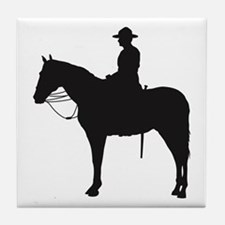 Canadian Mountie Silhouette Tile Coaster