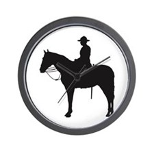 Canadian Mountie Silhouette Wall Clock