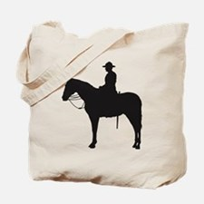 Canadian Mountie Silhouette Tote Bag
