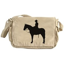 Canadian Mountie Silhouette Messenger Bag