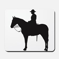 Canadian Mountie Silhouette Mousepad