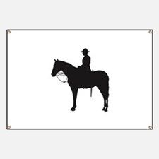 Canadian Mountie Silhouette Banner