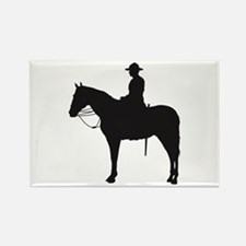 Canadian Mountie Silhouette Rectangle Magnet