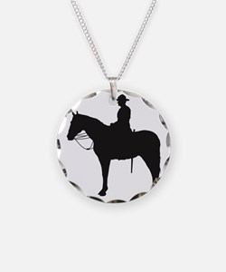 Canadian Mountie Silhouette Necklace