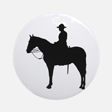 Canadian Mountie Silhouette Ornament (Round)