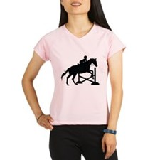 Horse Jumping Silhouette Performance Dry T-Shirt