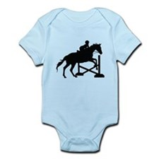 Horse Jumping Silhouette Infant Bodysuit