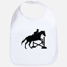 Horse Jumping Silhouette Bib