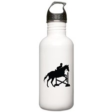 Horse Jumping Silhouette Water Bottle