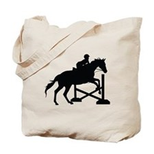 Horse Jumping Silhouette Tote Bag