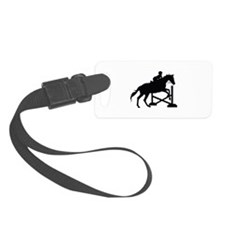 Horse Jumping Silhouette Luggage Tag