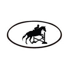 Horse Jumping Silhouette Patches