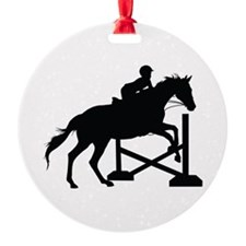 Horse Jumping Silhouette Ornament