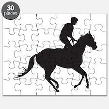 Jockey Silhouette Puzzle