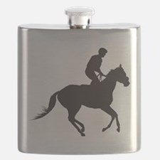Jockey Silhouette Flask