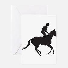 Jockey Silhouette Greeting Card